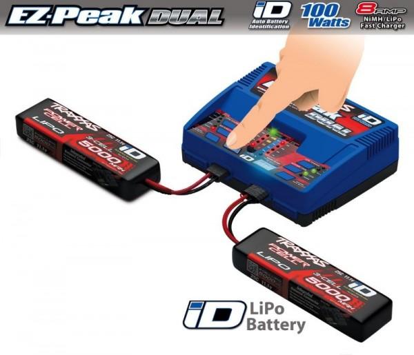 Traxxas DUAL EZ-Peak Plus-Lader 2972G + 2x 3S Lipo 5000mAh 2872X 2990G 2990GX