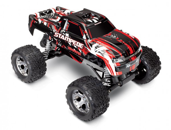 Traxxas Stampede Rot ARTR ohne Akku/Lader 1/10 2WD Monster Truck Brushed 36054-4