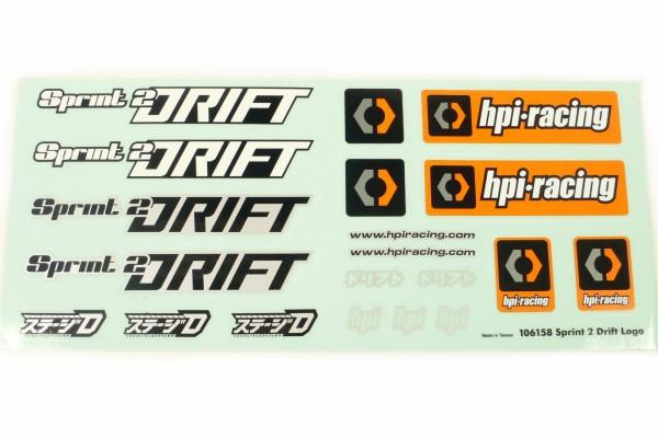 Decal Set Dekorbogen HPI Sport 2 Drift Logo 106158