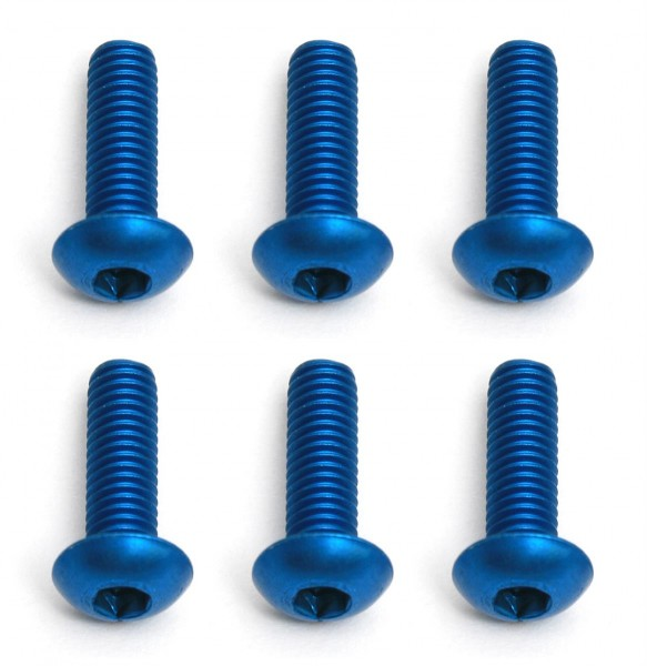 FT Screws, 3x10 mm BHCS, blue aluminum
