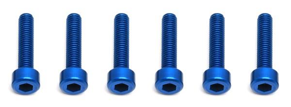 FT Screws, 3x14 mm SHCS, blue aluminum