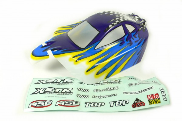 HSP Karosserie XSTR Buggy (Booster / Blade) blau/gelb 1:10, fertig lackiert 10705