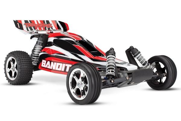 Traxxas Bandit Buggy Rot RTR ohne Akku/Lader 24054-4