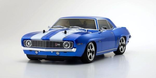 Kyosho FW06 Chevy Camaro Z28 1:10 RC Nitro Readyset m/KE15SP - Blau 33213B