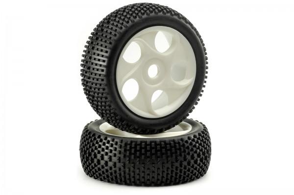 1:8 Reifen Räder Set Gash Profil 3 weiss