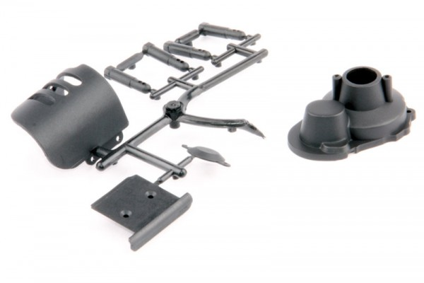 Motor- und Hauptzahnradabdeckung + Rammer - S10 Twister BX/TX 124017