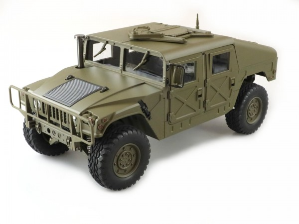 Amewi US Militärtruck 4x4 1:10 Army grün Teilmetall 22417