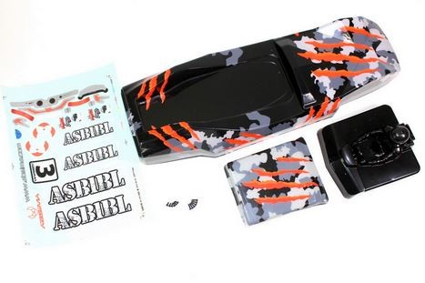 Absima Karosserie camouflage/orange Hot Shot Sand Buggy 1230120