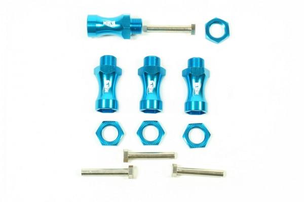 Adapter Aluminium Aufsatz von 12mm auf 17mm Radmitnehmer Blau