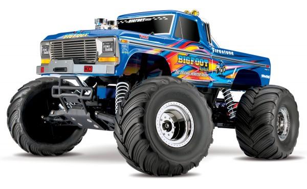 Traxxas BIGFOOT Blau BlueX RTR +12V-Lader 36034-1