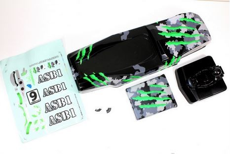 Absima Karosserie camouflage/grün Hot Shot Sand Buggy 1230111
