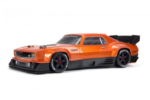 ARRMA 1/7 FELONY 6S BLX Street Bash All-Road Muscle Car RTR Orange ARA7617V2T2