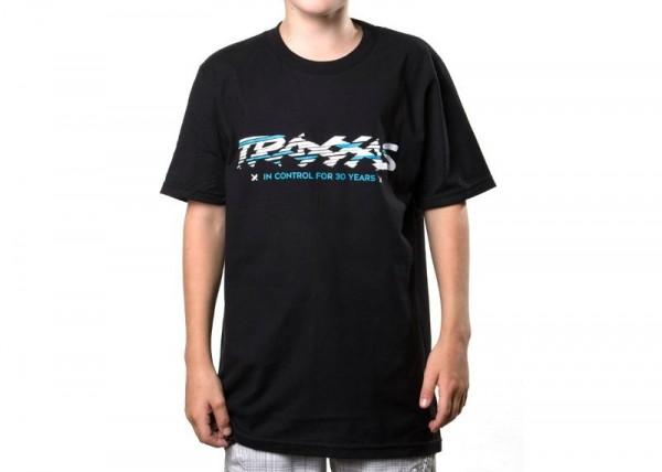 Traxxas T-Shirt Black Tee Sliced Tea Youth M 1391-M